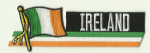 Ireland Embroidered Flag Patch, style 01.